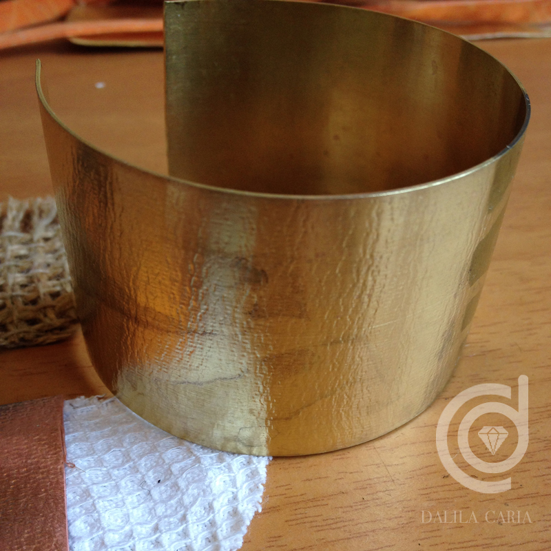 How to form cuffs from metal sheet – Dalila Caria