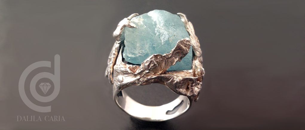"Rough topaz hollow ""diaper"" ring – fabrication process"