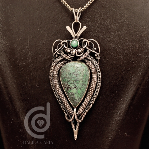 Turquoise hybrid pendant