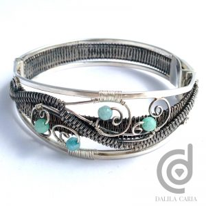 Silver cuff with box clasp